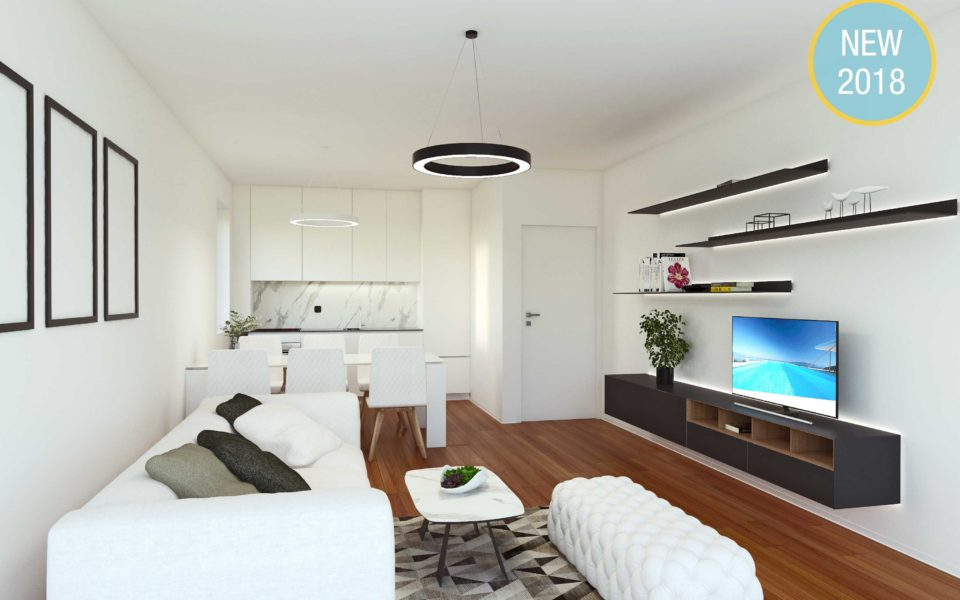 Design Apartments with rooftop swimming pool- Poljane glavna spavaca soba-Dnevni boravak