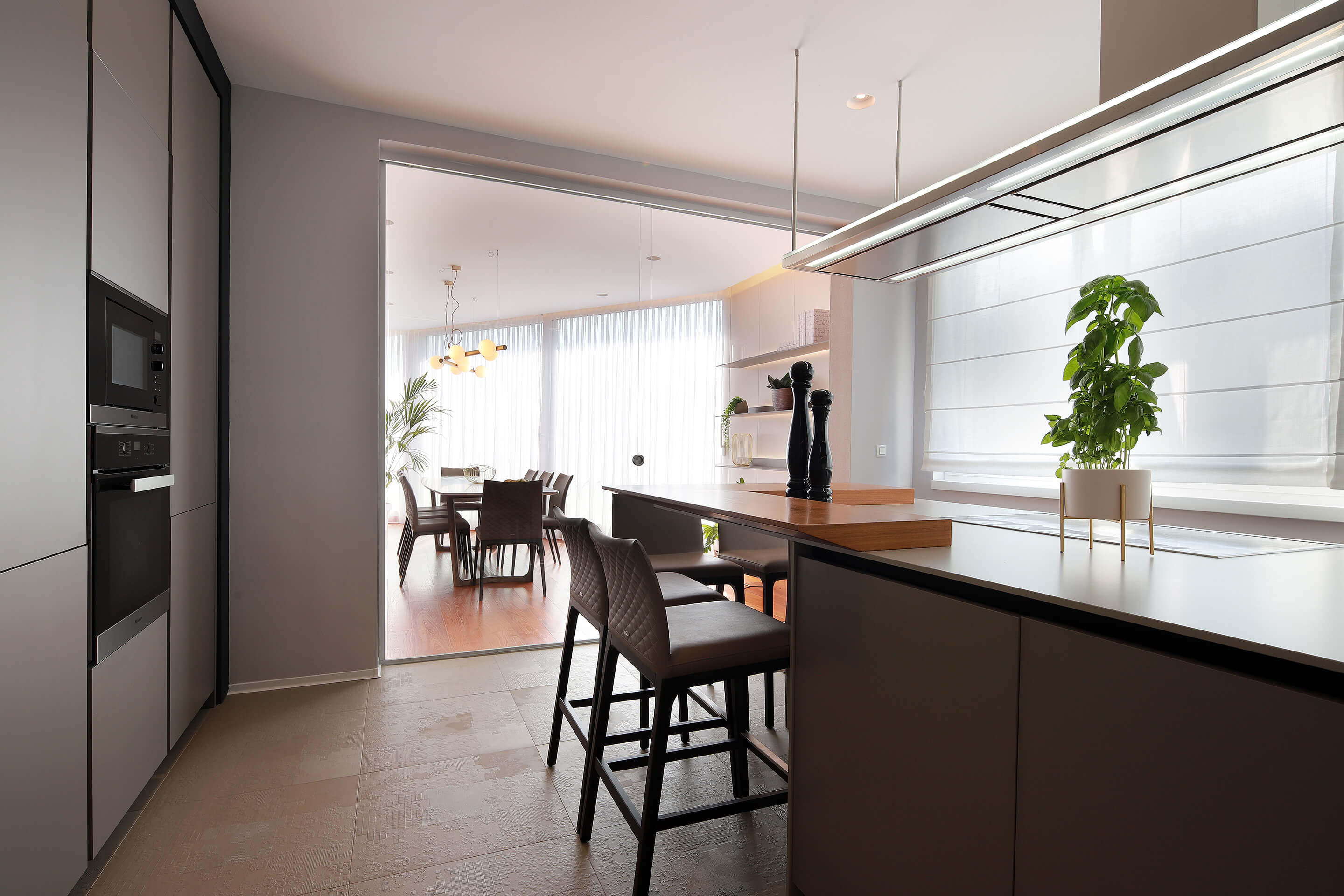 penthouse - kitchen - dining area - modern